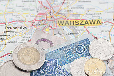Polish Zloty on Map