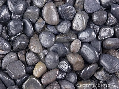 Polished black stones