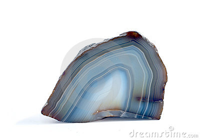 Polished blue agate