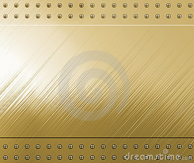 Polished gold with screws