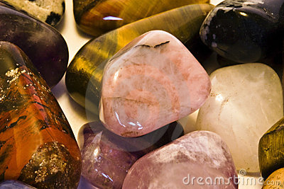Polished rocks and stones