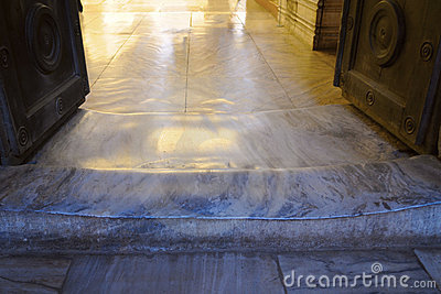 Polished Threshold in The Hagia Sophia Church