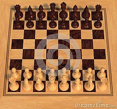 Polished Wood Chess Set