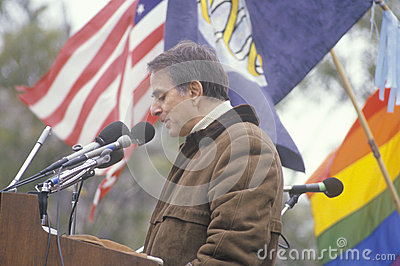 Political activist  Carl Sagan Editorial Photography