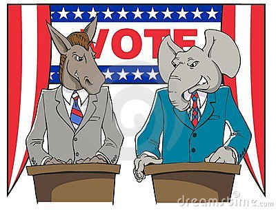 Political Debate Cartoon Royalty Free Stock Photo - Image: 6190145