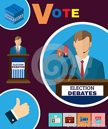 Free Political Election Debates 2016 Banner Royalty Free Stock Photography - 64469427