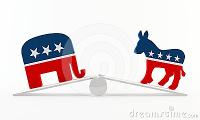 Political imbalance Editorial Stock Image