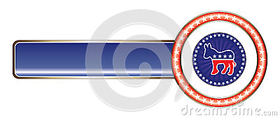 Political Label Democrat Stars Editorial Stock Photo