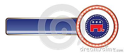 Political Label Republican Star Editorial Stock Image