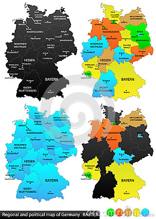 Cartoon Map Of Germany.Political Map Of Germany Cartoon Vector Cartoondealer Com 37036999