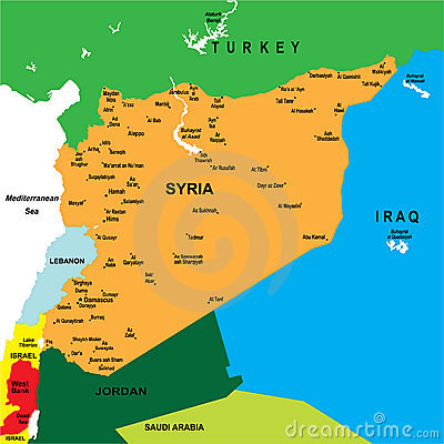 Political map of Syria
