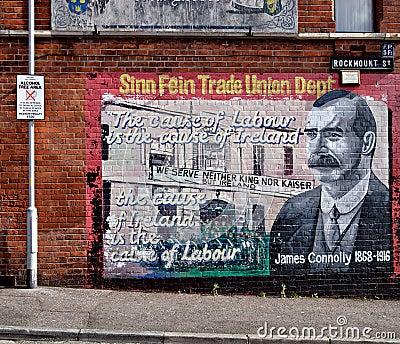 Political murals belfast northern ireland editorial for Mural irlande