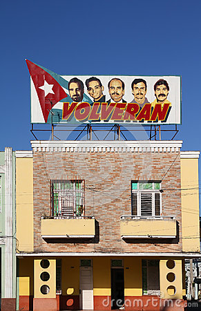Political propaganda in Cuba Editorial Photo