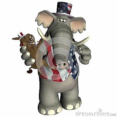 Free Political Voodoo - Republican Royalty Free Stock Photos - 1059258