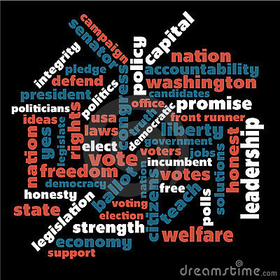 Political word graphic