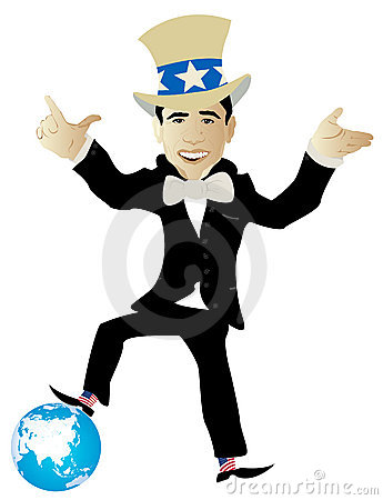 Politician and globe