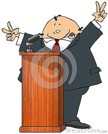 Politician At A Podium