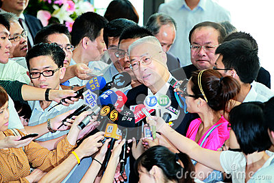 Politician With reporters Editorial Image