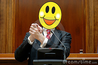 Politician with a smiling face