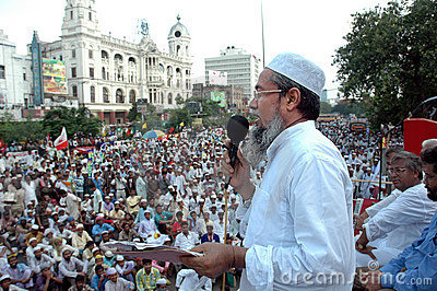 Politics of Kolkata-India Editorial Photography