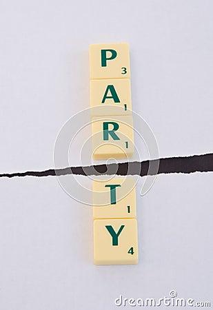 Politics: Party split.