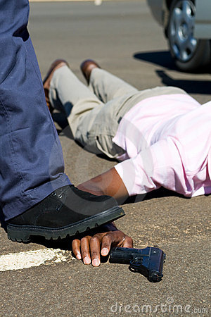 Politie en misdadiger