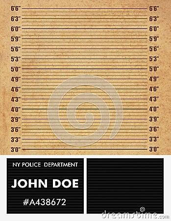Politie mugshot achtergrond
