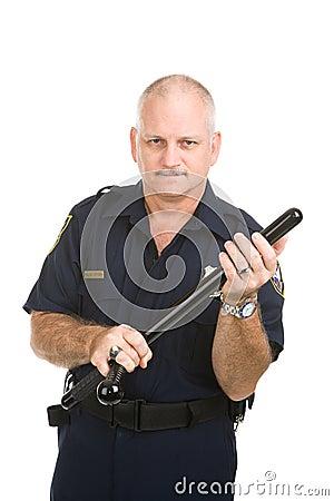 Politieagent met Knuppel