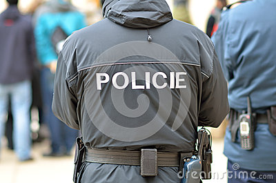 Polizei bemannt in der Stadt von Prag