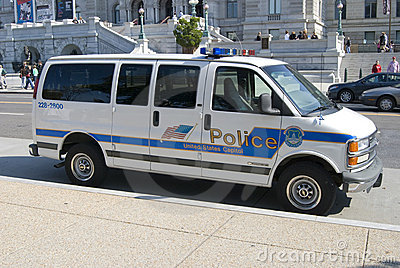 Polizei US-Captiol Redaktionelles Stockfotografie