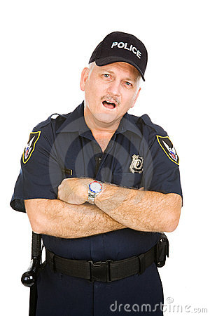 Polizeibeamte - überrascht