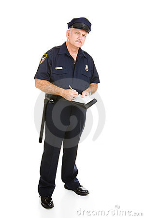Polizeibeamte auf dem Job