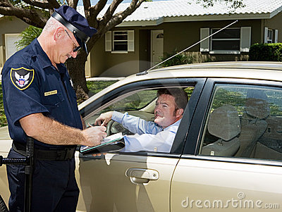 Polizia - biglietto di scrittura