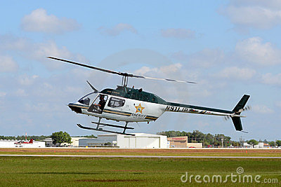 Polk County, FL Sheriff helicopter Editorial Stock Image