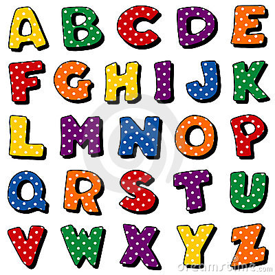Free Polka Dot Alphabet Royalty Free Stock Image - 14995996