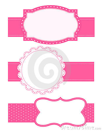 Polka dot background frame