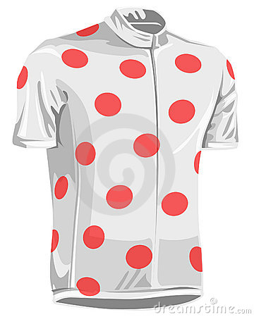 Polka dot bicycle jersey