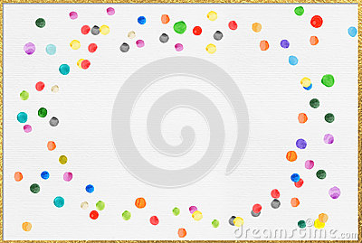 White Backgrounds With Colorful Borders Colourful Ink D...