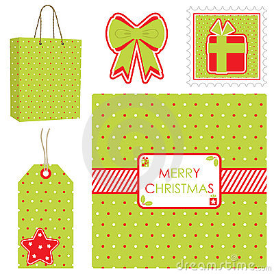 Polka dot christmas set