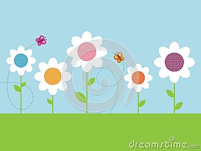 Polka dot daisies