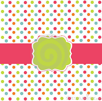Polka dot design card
