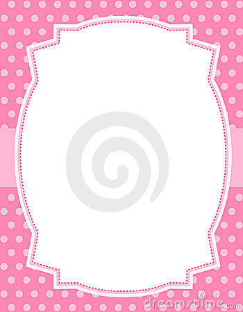 Polka dot design with frame