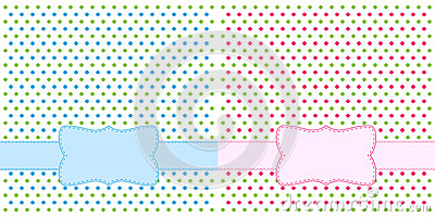 Polka dot design frames