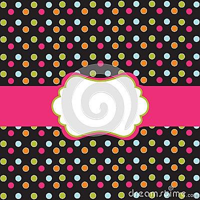 Free Polka Dot Design With Frame Royalty Free Stock Image - 15268456