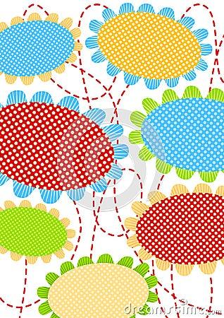 Polka dot flowers greeting card