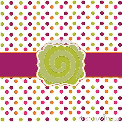 Polka dot frame design