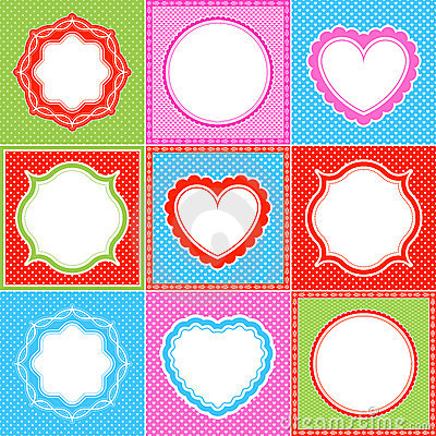 polka dot frame pattern heart collections