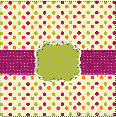 Polka dot patchwork design card