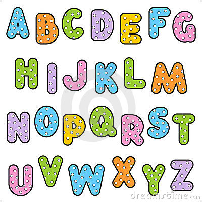 Free Polka-dot Pattern Alphabet Set Stock Image - 19254681