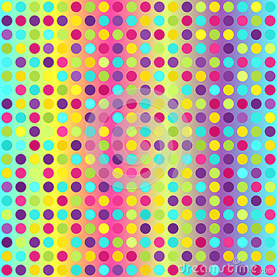 Polka dot pattern. Seamless vector geometric background Vector Illustration